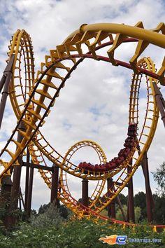 10/18 | Photo du Roller Coaster Goudurix situé au @ParcAsterix (France). Plus d'information sur notre site www.e-coasters.com !! Tous les meilleurs Parcs d'Attractions sur un seul site web !! Découvrez également notre vidéo embarquée à cette adresse : youtu.be/jIvONO78Sdc