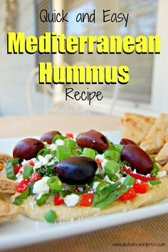 {Recipe} Quick & Easy Mediterranean Hummus. I often make this for a quick and healthy lunch.