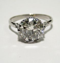 Reserved...1910...2.43ct Antique Vintage OLD EUROPEAN ROUND Cut Diamond Engagement Ring on Etsy