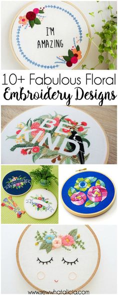 Ribbon Embroidery For Beginners 10 Fabulous Floral Embroidery Designs: These embroidery designs are simply fabulous. Click through for a full list of beautiful patterns to hand embroidery today! Embroidery Stitches Tutorial, Embroidery Transfers, Learn Embroidery, Silk Ribbon Embroidery, Hand Embroidery Designs, Vintage Embroidery, Embroidery Techniques, Floral Embroidery, Machine Embroidery