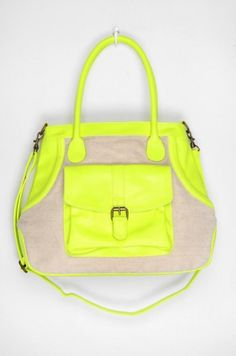Neon Yellow Mixed Purse