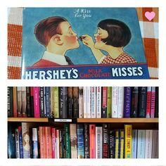 ❤ KISSES & BOOKS 🤓  #snapshots #books #bookworm #hersheykisses #chocolatekisses #magnet #cute #photography #photo #samsungcamera #explore #creativity #adorable #nerdsrule #dailysnap #pics #fallreads #bookshelf #art #parnassusbooks
