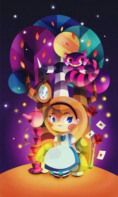 Alice in Wonderland by Gaby Zermeño, via Behance