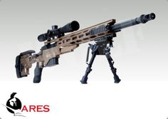 how to draw a msr sniper rifle