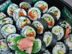 Vegetarian sushi ... wish I could make these, tried once and they didn't look anything like these LOL