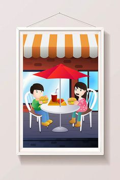 Valentine's Day Couple Store Streetside Fast Food Dating Illustration#pikbest#templates Food Template, Templates, Valentine Template, Valentines Day Couple, Shopping Street, Stores, Illustration, Couples, Dating