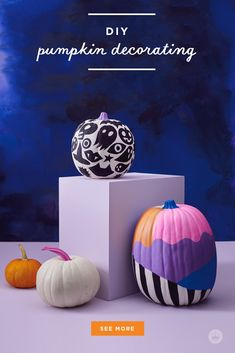 Our absolute best, totally essential pumpkin painting tips - Think. Black Pumpkin, Diy Pumpkin, Pumpkin Crafts, White Paint Pen, White Acrylic Paint, Types Of Painting, Painting Tips, Spirit Halloween, Happy Halloween