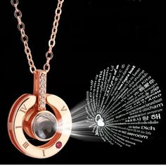 I LOVE YOU in 100 languages Silver Rose Gold Pendant Necklace Wife Mothers Gifts - Rose Gold Necklace - Ideas of Rose Gold Necklace Love Necklace, Necklace Types, Pendant Necklace, Dainty Necklace, Ring Necklace, Necklace Charm, Necklace Ideas, Watch Necklace, Stud Earrings
