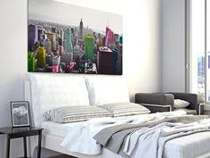 10901 Obraz na płótnie - NOWY JORK KOLORY - duży