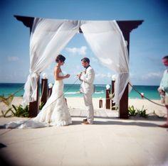 Holga Shot  Destination Wedding in Punta Cana.  Photo © Two Birds Photography 2012  http://www.TwoBirdsPhoto.com