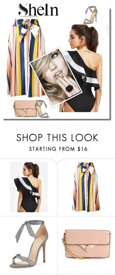 """""""shein"""" by duhhh1234 ❤ liked on Polyvore featuring Tanya Taylor, Alexandre Birman and H&M"""