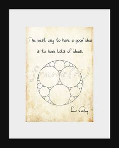 Science art Linus Pauling inspirational quote by frameitposters