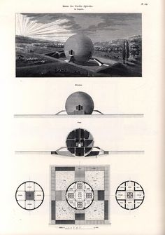 """ryanpanos:  Claude Ledoux's Spherical house: 1789-1806 via Retronaut """"Claude-Nicolas Ledoux(1736–1806) was an architect whose greatest works were funded by the French monarchy and came to be perceived as symbols of theAncien Régimerather than Utopia. TheFrench Revolutionhampered his career; much of his work was destroyed in the nineteenth century."""" -Wikipedia"""