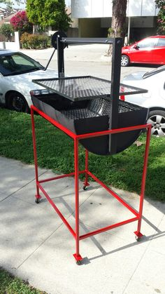 41 Unique Backyard Grill Design Ideas That Looks So Awesome - Backyard landscape design takes the ordinary outdoor space behind your home and transforms it into a fabulous, natural living area that enhances your . Patio Gas, Patio Grill, Oil Drum Bbq, Design Grill, Bbq Stove, Grill Stand, Fire Pit Grill, Outdoor Stove, Outdoor Kitchens