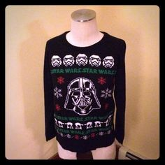 Star Wars Darth Vader Xmas Sweater  Bought at Target. Worn for a Xmas party. No need for it now. Very soft acrylic. I know it's no longer in season, but why not be prepared for next Xmas?  Target Sweaters