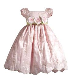 Amazon.com: Lilith Embroidered Puff Sleeve Flower Girl Dress with Flower Sash: Clothing