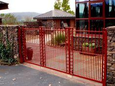 gates with plant motif
