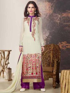 Be in fashion anywhere by wearing this beautiful outfit.  Item Code: SLHPV8602 http://www.bharatplaza.com/new-arrivals/salwar-kameez.html