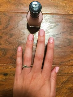 Sally Hansen Miracle Gel, Pinky Promise. I love this nail polish! I use my fast nail drying spray too and the color lasts for weeks!