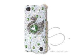 Swan Bling Swarovski Crystal Phone Case - Green  http://www.dsstyles.com/en/brands/swan-bling-swarovski-crystal-phone-case-green-2.html