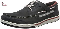 Sebago Triton Three Eye, Chaussures Bateau Homme, Bleu (Navy Nubuck), 50 EU - Chaussures sebago (*Partner-Link)