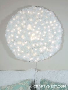400 coffee filters and a lot of patience will yield you this stunningly unique light for your home @Katie Nolan