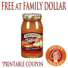 Free Smucker's Topping at Family Dollar