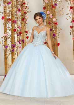 53f52f824edaa Rhinestone and Crystal Beading on a Tulle Ballgown. Tulle Ball GownBall ...