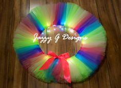 Tropical Rainbow LED Light Up Tutu-Adult by JazzyGDesigns on Etsy