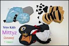 Mittyz Winter Gloves From Veyo Kids giveaway with 3 winners ends 12/28 us/canada