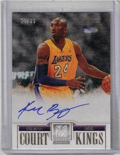 4344ee17afa 2012/13 Elite Court Kings Basketball Kobe Bryant Auto Card Serial #14/99