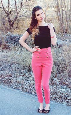 DarlingOnADollar.com #blog #blogger #fashionblog #styleblog #clothes #fashion #style #pink #vintage #highwaisted #ombrehair