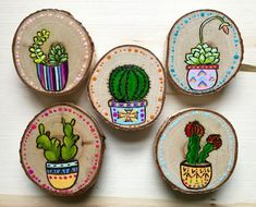 Cactus Art Magnets hand painted and wood burned,Cactus Art Magnets hand painted and wood burned How To Make Wood Art ? Wood art is generally the job of shaping about and inside, provided that the to. Wood Slice Crafts, Wood Crafts, Diy And Crafts, Arts And Crafts, Wood Pallet Art, Wood Art, Wood Wood, Wood Pallets, Diy Wood