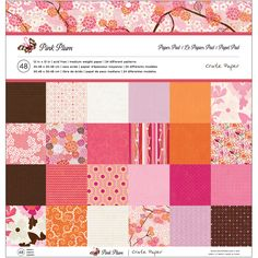 """Crate Paper Paper Pad 12""""x12"""" - Pink Plum - Click to enlarge"""