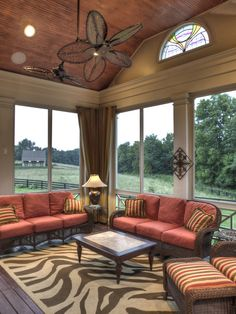 3 Season Porch Furniture would love to do a porch room similar to this in yellow and gray