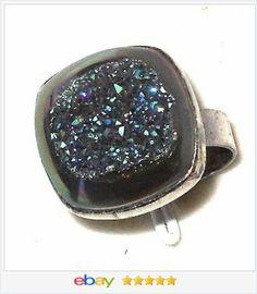 London Blue Topaz Princess Ring 7.00 carats size 7 USA SELLER ...
