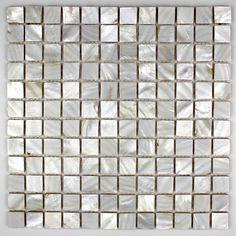 mosaique en nacre. le carrelage mosaique en nacre peut etre pose en cuisine ou salle de bain au sol ou au mur