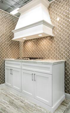 Reflective metallic kitchen backsplash tile Stainless