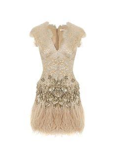 Matthew Williamson feathered dress