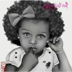 Afro natural hair art, kids with natural hair. cute black girl with curly afro hairstyle. http://www.shorthaircutsforblackwomen.com/natural-hair-style_pictures/