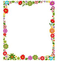 simple flower border designs for a4 paper Google Search Ideas