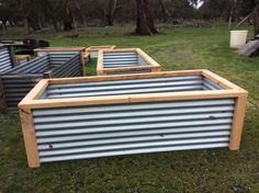 Raised Garden Beds made from recycled and reclaimed materials, Cypress, zoncalume, colorbond or corrugated iron, 23 week turnaround Pick up or delivery ..., 1137204940
