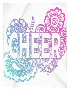 Cheer Doodle Jersey Blanket – Purposely Designed