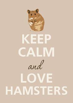 Keep Calm and Love hamsters by Agadart on Etsy - Immer diese kleinen, süßen, aber auch frechen Kerlchen...