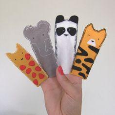 zoo animal felt finger puppets