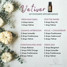 Vetiver my very favorite oil! #aromatherapydiffuserrecipes