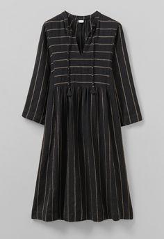 Workwear Fashion, Workwear Dresses, Kaftan Style, Linen Trousers, Bold Stripes, Kurta Designs, Striped Linen, Simple Outfits, Lounge Wear