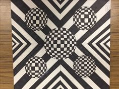 Optical Illusions For Kids, Art Optical, Middle School Art, Art School, Art Basics, Illusion Art, Arts Ed, Classroom Inspiration, Sixth Grade