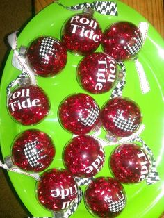 I have to make these for my Alabama Christmas tree!!