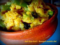 Sookhi Dal - Dal chorchori for Ranna Puja Bangladeshi Food, Bengali Food, Old Recipes, Indian Food Recipes, Ancient Recipes, Recipe Instructions, Fried Fish, Food Festival, Serving Platters